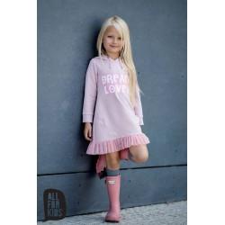 Ružové mikinko šaty