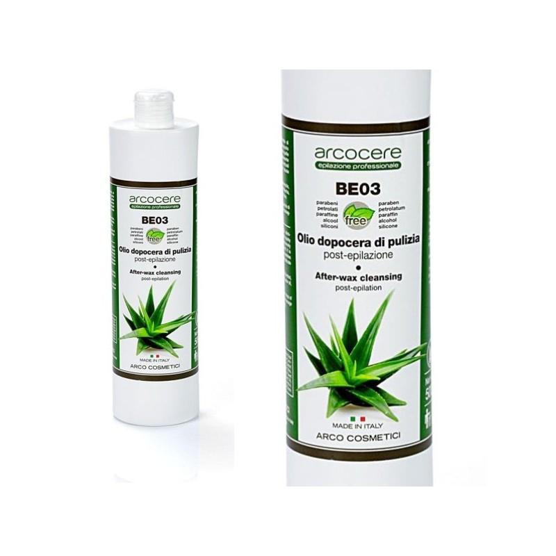 Čistiaci olej s Aloe Vera po depilácii Arcocere 500 ml