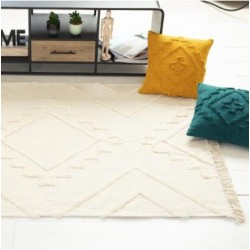 Moderný bavlnený koberec slonová kosť